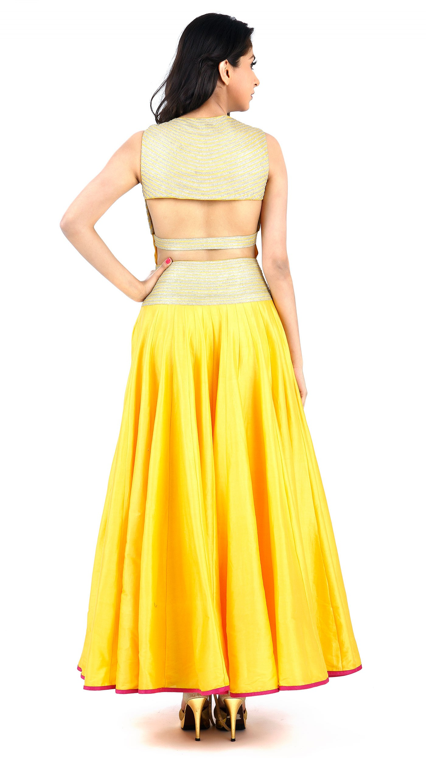 Sva By Sonam Amp Paras Modi S Yellow Floor Length Dress