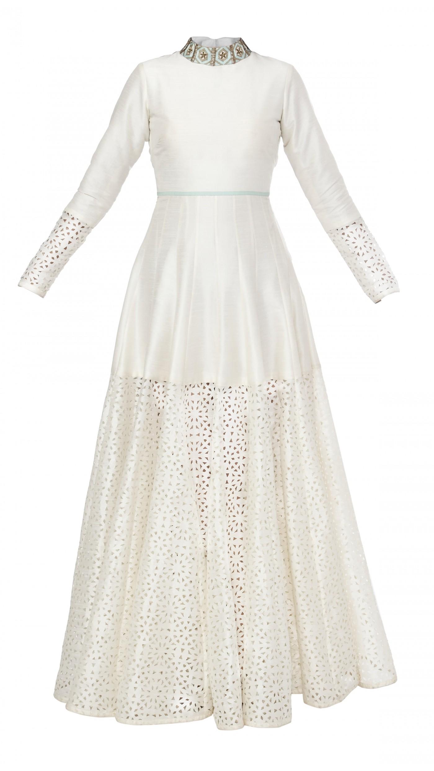 sva by sonam paras modi s white silk cutwork gown
