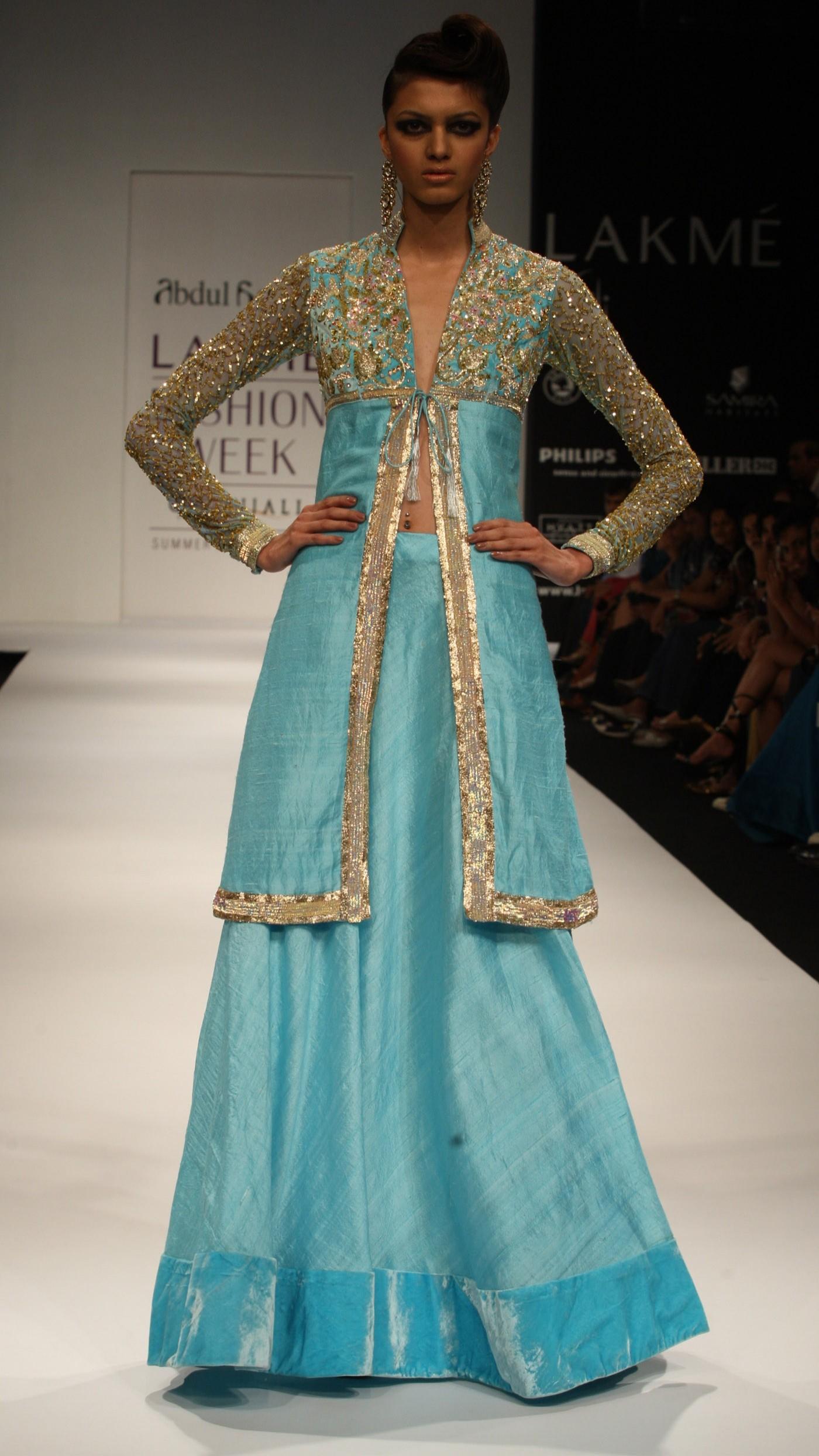 Abdul Halder S Light Blue Lengha Set