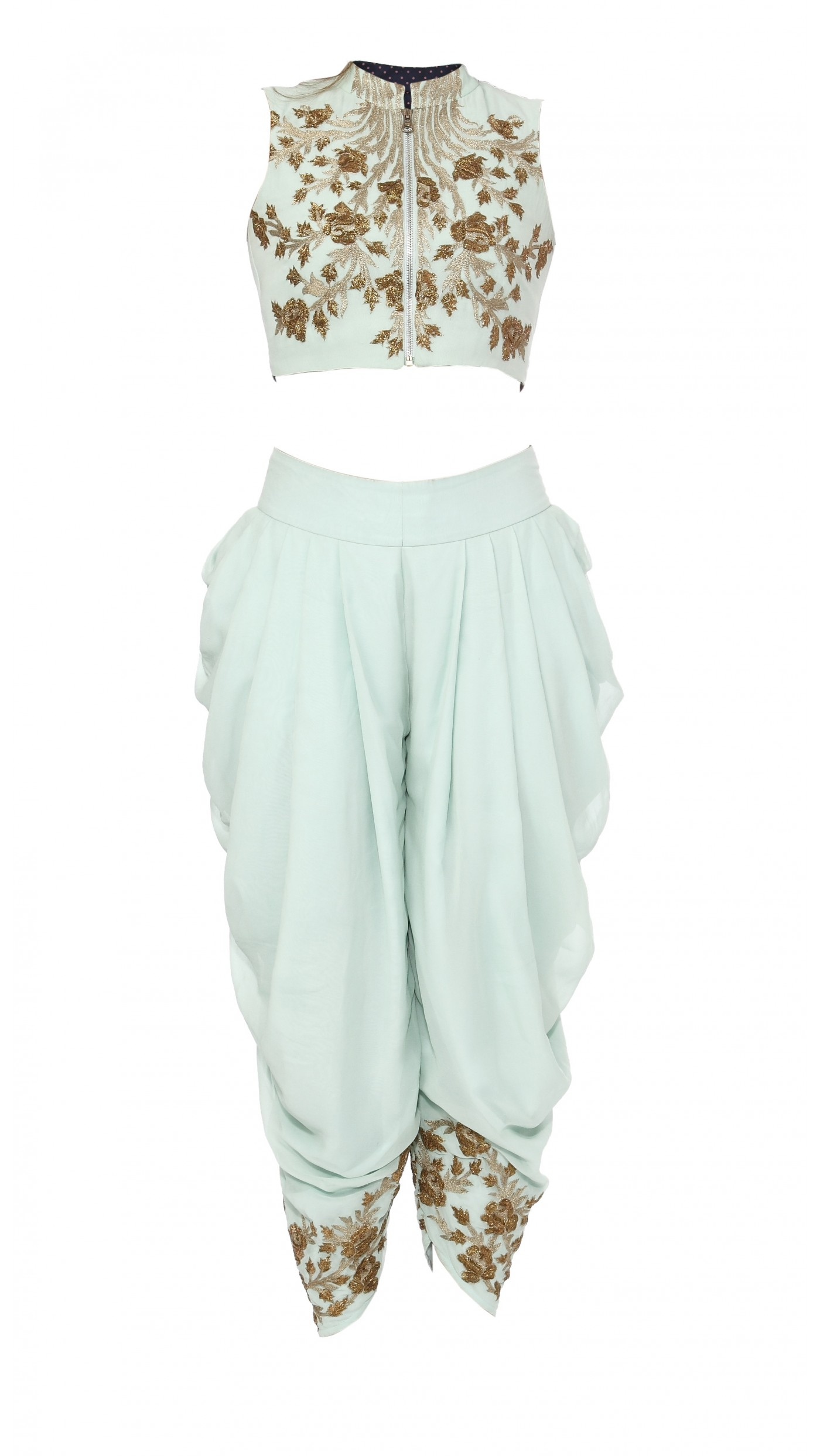 sva by sonam paras modi s mint green embroidered crop