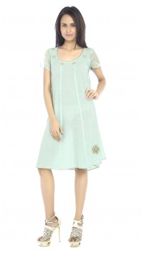 Mint Paneled Tunic