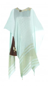 Mint Green and Brown Shift Dress