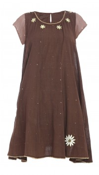 Chocolate Brown Paneled Tunic