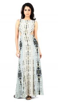 Stone Floret & Pale Blue Dress