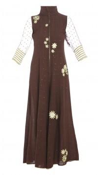 Brown Cotton Jumpsuit