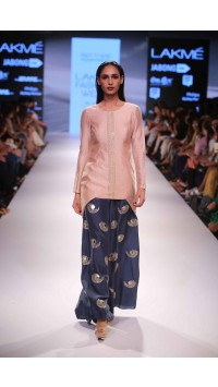 Blush Mul Kurta with Palazzos